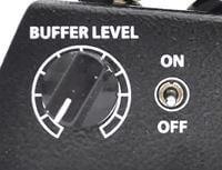 On/Off可能な「Buffer Level」ツマミを搭載
