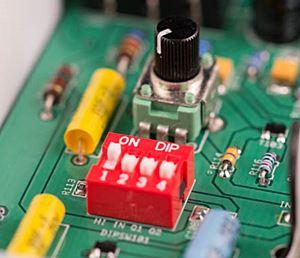 XOTIC XW-1のディップスイッチ