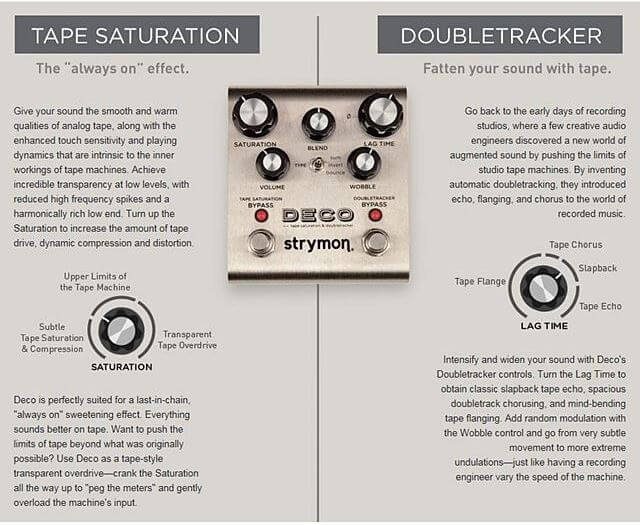 STRYMON DECO TAPE SATURATION & DOUBLETRACKER説明