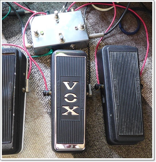 ループセレクターを使用しワウと繋いだ時にどれくらい音が劣化するのかをテスト
