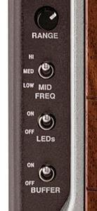 TREAD-LIGHT WAH PEDALのモード切替スイッチ