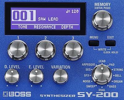 BOSS SY-200のコントロールパネル