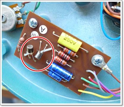 FUZZ FACE JH-F1のトランジスタはシリコンBC108を使用