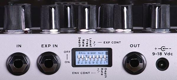 SEYMOUR DUNCAN FOOZ Analog Fuzz Synthesizerの入出力とディップスイッチ