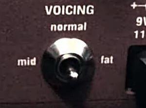 T REX DIVAの3モードヴォイシングスイッチ