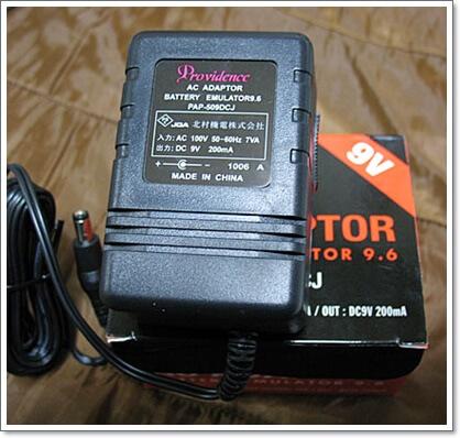 電池のフリをするACアダプター PROVIDENCE Battery Emulator 9.6