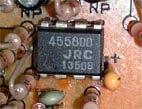 交換後のオペアンプ JRC 4558DD