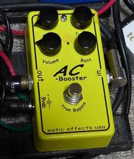 フェンダーアンプっぽい歪みを作るなら XOTIC AC BOOSTER