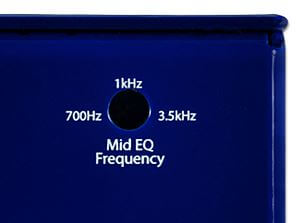 Ecstasy Blue Mini背面にあるミッドレンジ調整用のトリムポット