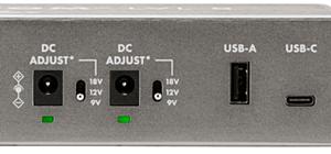 9v/12v/18vへの切り替えが可能なポートを2つとUSBポートを搭載(LVL8、LVL12のみ)