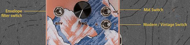 Walrus Audio Kangra Filter Fuzzに搭載のスイッチ