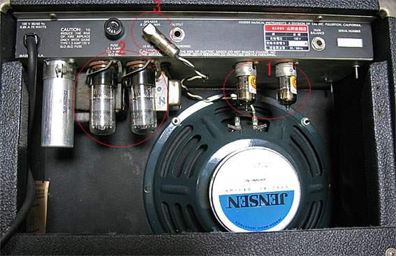 Fender Champ II背面