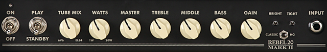 EGNATER REBEL-20のコントロール
