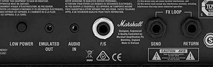 MARSHALL DSL5のバックパネル
