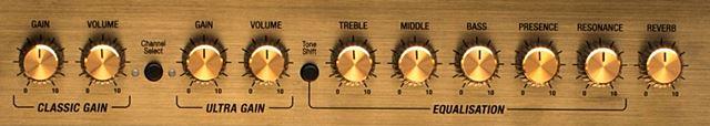 MARSHALL DSL40のコントロール