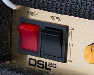 MARSHALL DSL40の出力切り替えスイッチ