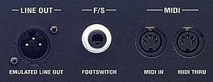 MARSHALL JVMシリーズのライン/MIDIアウト