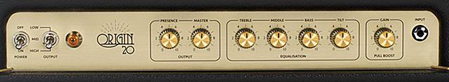 Marshall Origin 20のコントロール