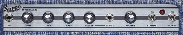 SUPRO REVERB COMBOのコントロール