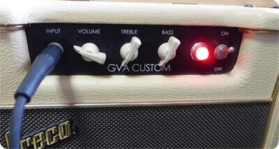 Greco GVA Customのコントロールパネル