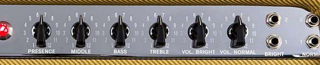 FENDER 59 BASSMAN LTDのコントロール