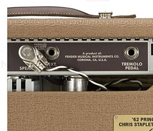 FENDER 62 PRINCETON AMP CHRIS STAPLETON EDITIONのバックパネル