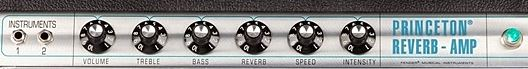 FENDER 68 Custom Princeton Reverbのコントロール