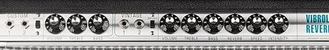 FENDER 68 Custom Vibrolux Reverbのコントロール