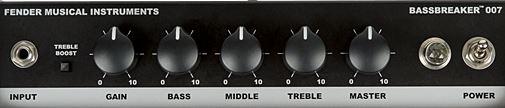 FENDER Bassbreaker 007のコントロール