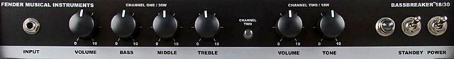 FENDER Bassbreaker 18/30 Comboのコントロール