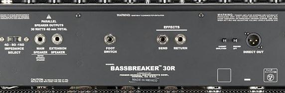 FENDER Bassbreaker 30Rのバックパネル