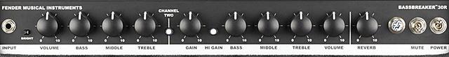 FENDER Bassbreaker 30Rのコントロール