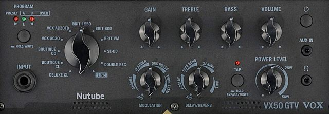 VOX VX50 GTVのコントロール
