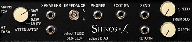 SHINOS ROCKETのバックパネル