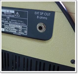 内部スピーカーを外部スピーカーに切替可能なスピーカーアウト搭載