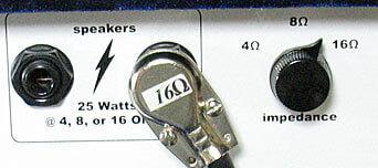 ZINKY Blue Velvetのスピーカーアウトは4Ω,8Ω、16Ωに対応