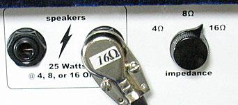 Zinkyアンプのスピーカー出力/インピーダンス切り替えスイッチ