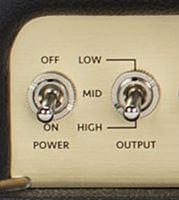 Marshall Origin 50/20の出力切り替えスイッチ