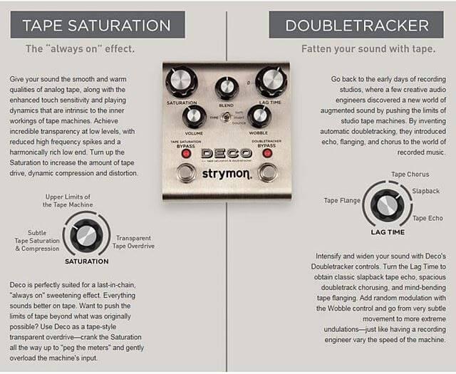 Strymon Deco Tape Saturation & Doubletracker説明