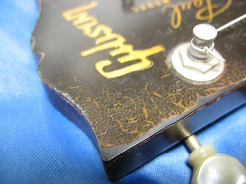 Gibson LesPaul Reissue(1988年製)のヘッド。汚いので再塗装を検討中