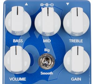 WAMPLER PEDALS Clarksdale Overdriveのコントロールパネル
