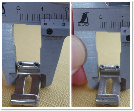 11.2mmと10.8mmピッチののサドル比較