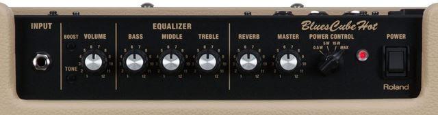 Roland Blues Cube Hotのコントロールパネル