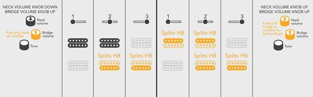 Michael Kelly guitars Patriotのピックアップセレクター01