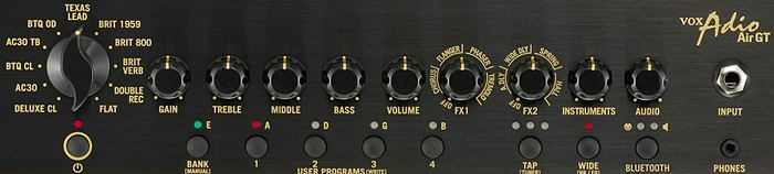 VOX Adio Air GTのコントロールパネル