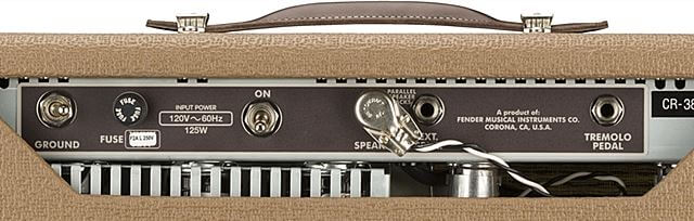 FENDER 62 PRINCETON CHRIS STAPLETON EDITION バックパネル