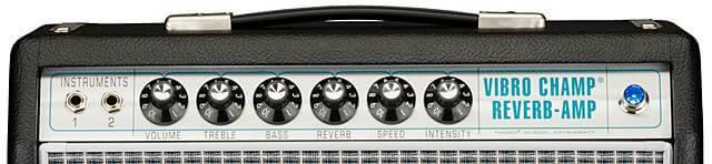 FENDER 68 CUSTOM VIBRO CHAMP REVERB ( 5w )のコントロール